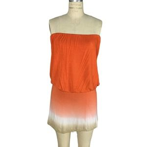 Young Fabulous & Broke Strapless Mini Dress Ombre
